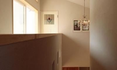 木と土の家 (廊下・階段2)