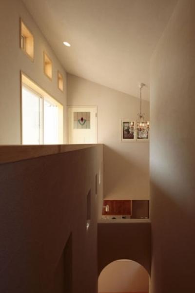 廊下・階段2 (木と土の家)