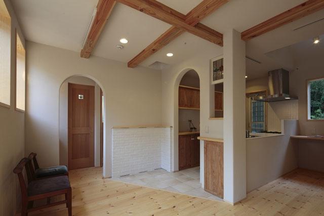 木と土の家の部屋 LDK1