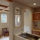 木と土の家の写真 キッチン