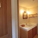 木と土の家の写真 洗面脱衣室1