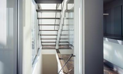 上丸子山王町の家 (階段)