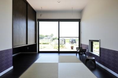 和室 (WAの黒の家)