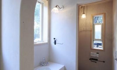 木と土の家 (手洗い・トイレ)