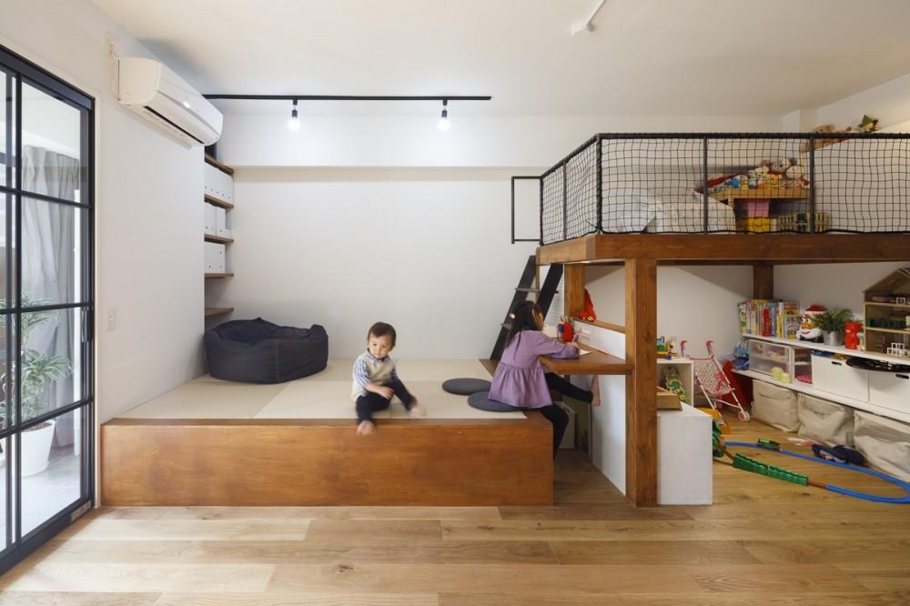 ブルースタジオ「M邸-将来の個室は? 子どもの顔が見える間取りは? 子育て世代のリノベーション」