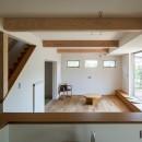さんかく屋根の家~屋根裏部屋のある大人可愛いおうち~の写真 リビングダイニングキッチン