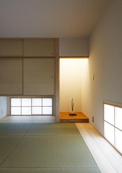 和室(寝室) (さんかく屋根の家~屋根裏部屋のある大人可愛いおうち~)