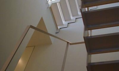 古川ビル / オーナー住戸付き事務所ビル (階段)