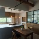 ヒカリノイエ~3世代2世帯が住む味わいのある古民家リノベーション~の写真 ダイニングキッチン