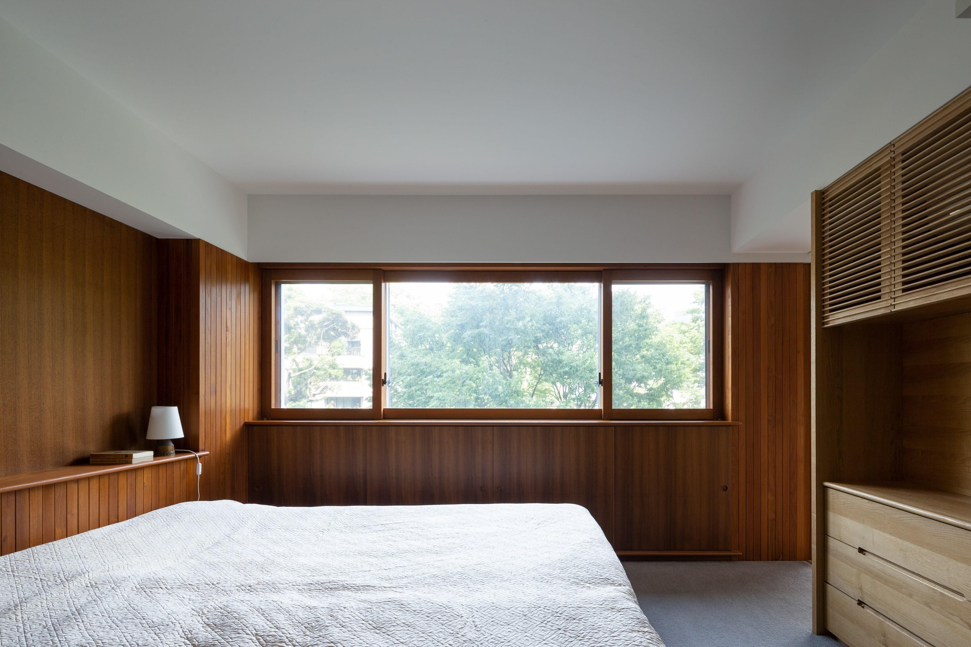 ベッドルーム事例:三田綱町の家 寝室(三田綱町の家)