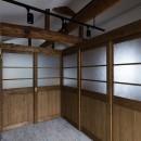 ヒカリノイエ~3世代2世帯が住む味わいのある古民家リノベーション~の写真 子供部屋の間仕切り引き戸