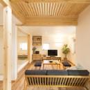 自然素材+断熱性能 体にやさしい住まいの写真 開放的で使いやすいリビング