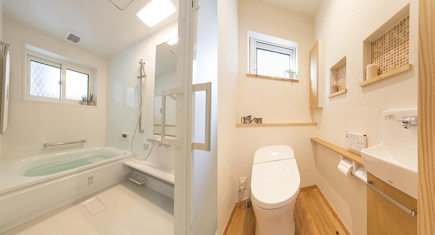バス/トイレ事例:採光を取り入れた水回り(自然素材+断熱性能 体にやさしい住まい)