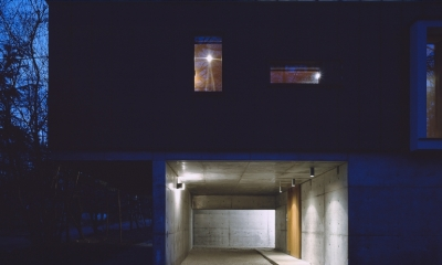 K-Villa / 北軽井沢の別荘 (外観夕景)