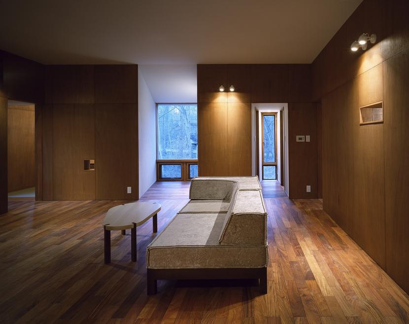 K-Villa / 北軽井沢の別荘の部屋 リビング