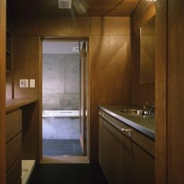 K-Villa / 北軽井沢の別荘 (浴室、洗面)