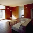K-Villa / 北軽井沢の別荘の写真 リビング、テラス、趣味のスペース