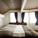 ふたりと2匹の心地よい家の写真 寝室は将来は2部屋に