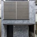 6坪のオアシス〜明るく 機能的で 美しい 超狭小住宅!〜の写真 前面道路から見た外観