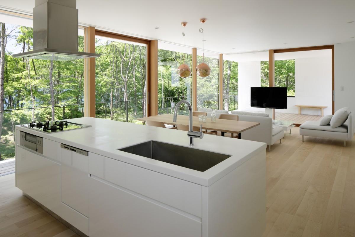 キッチン事例:LDK(063大町青木湖Yさんの家)