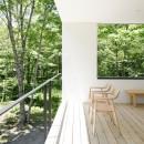 063大町青木湖Yさんの家の写真 テラス