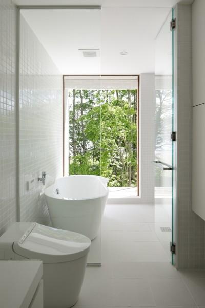 浴室 (063大町青木湖Yさんの家)
