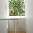 063大町青木湖Yさんの家の写真 階段