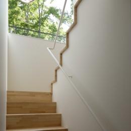 063大町青木湖Yさんの家 (階段)