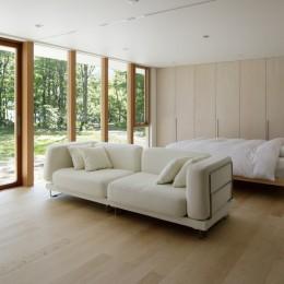 063大町青木湖Yさんの家 (寝室)