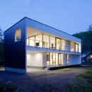 063大町青木湖Yさんの家の写真 外観夕景