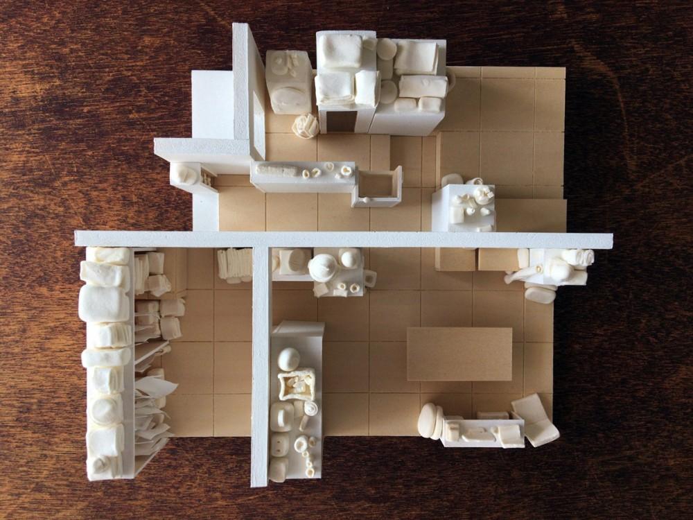 新金岡団地の改修 (模型写真)