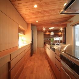 子世帯 キッチン (悠らりの家~音楽を愉しむ家~)