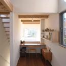 福岡市今川の家/ルーフバルコニーのある狭小住宅の写真 書斎