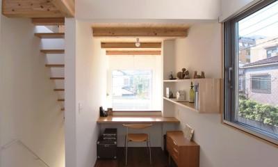福岡市今川の家/ルーフバルコニーのある狭小住宅 (書斎)