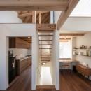 福岡市今川の家/ルーフバルコニーのある狭小住宅の写真 連続する空間