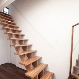福岡市今川の家/ルーフバルコニーのある狭小住宅 (エントランス)