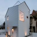 福岡市今川の家/ルーフバルコニーのある狭小住宅の写真 外観