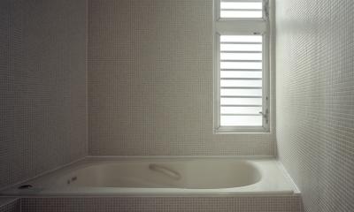 代沢の住宅 / 11坪の店舗付住宅 (浴室)