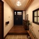 福貴の家~奈良県吉野材の長期優良住宅~の写真 玄関