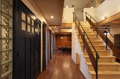 階段 (福貴の家~奈良県吉野材の長期優良住宅~)