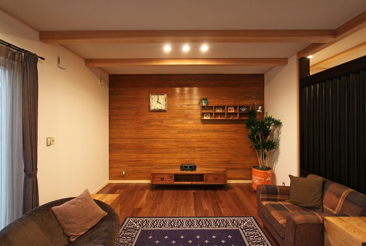 リビングダイニング事例:リビング(福貴の家~奈良県吉野材の長期優良住宅~)