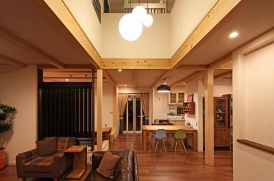 福貴の家~奈良県吉野材の長期優良住宅~ (リビング)