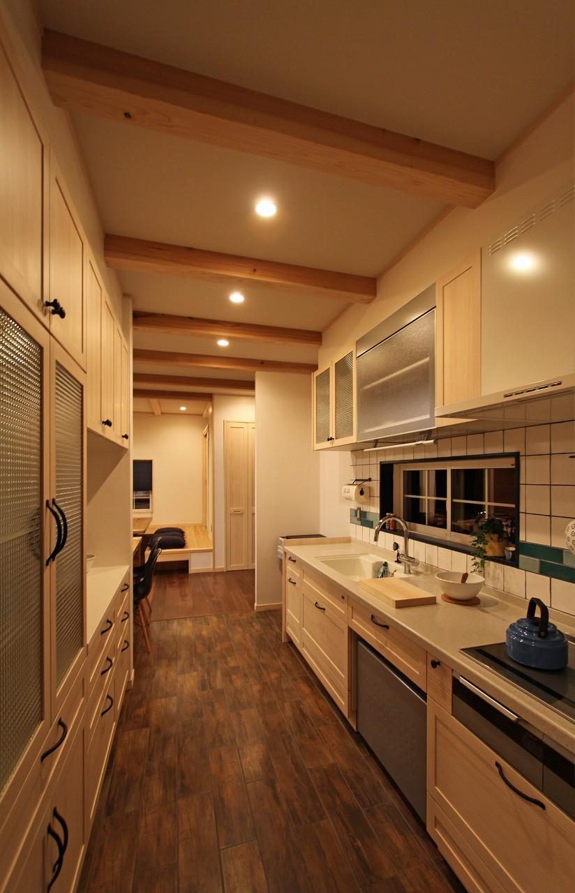 キッチン事例:キッチン(福貴の家~奈良県吉野材の長期優良住宅~)