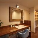 福貴の家~奈良県吉野材の長期優良住宅~の写真 洗面