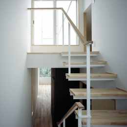 代沢の住宅 / 11坪の店舗付住宅 (階段室)