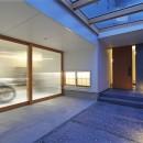 広山の家~ビルトインガレージのあるコートハウス~の写真 アプローチ