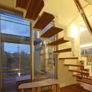 広山の家~ビルトインガレージのあるコートハウス~の写真 階段