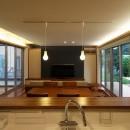 広山の家~ビルトインガレージのあるコートハウス~の写真 LDK