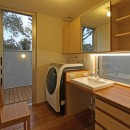 広山の家~ビルトインガレージのあるコートハウス~の写真 洗面