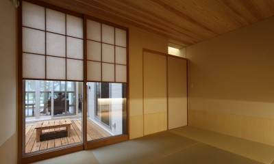 広山の家~ビルトインガレージのあるコートハウス~ (畳室)